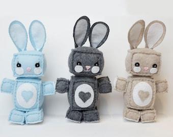 Cute Plush Felt Bunny Rabbits