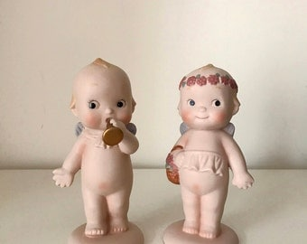 Pair of Vintage Kewpie Ceramic Figurines