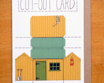A6 Cut Out Card   - The Garden Shed