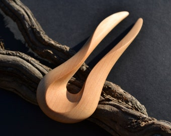 Wooden hairfork, handcarved from Alderwood