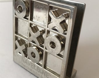 Chrome Noughts and Crosses Letter Holder|Advertising Item