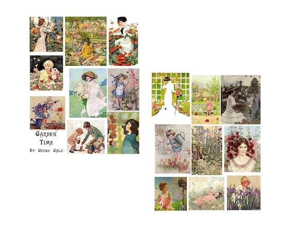 Garden Time Digital Collage Set