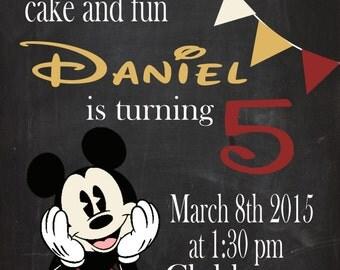 Antique Mickey inspired digital invite
