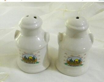 Spring Sale Vintage Arizona Cactus Souvenir Ceramic Salt and Pepper Shakers