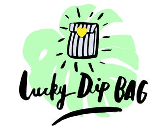 Lucky Dip Bag, illustrated goodies mystery lucky dip bag