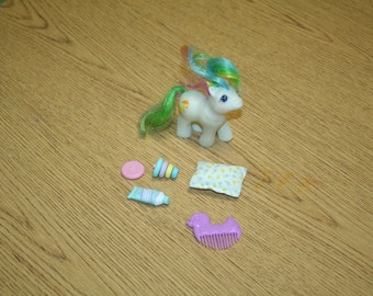 Vintage 1980s MY LITTLE PONY Baby Quacker Babies w/ First Tooth!  Includes Some Accessories!!  Private Collection!