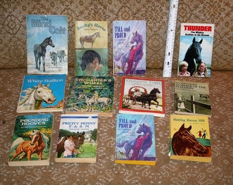 Vintage 1970s Lot of 53 Scholastic / Collectible / Hardcover HORSE Books!  Horse Lover's Special!  All 4 One Price!!  A Complete Library!