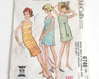 1960s McCall's shift dress pattern 6740