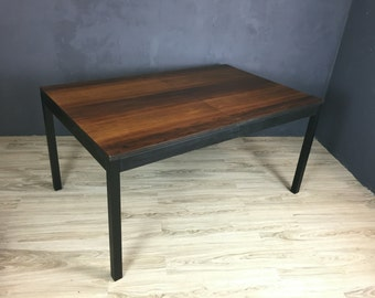 SALE - Baughman Rosewood and Walnut Parsons Dining Table