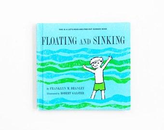 Floating and Sinking , children vintage book, (1963) Franklyn M.Branley