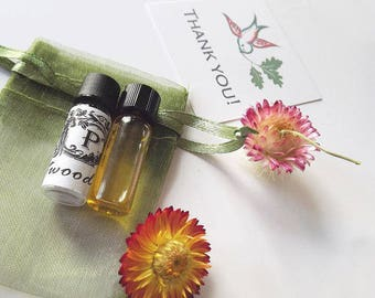 Perfume Samples 9 natural and botanical fragrance Gift Box with Tag, Gift for Her plus extra, Perfume testers
