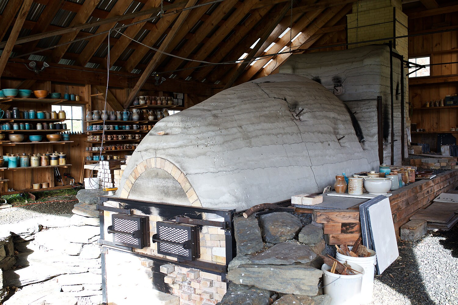 Wood-fired kiln