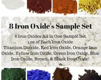 7 Neon Blue Soap Colorant Sample Pack, Neon Mica Powder, Oxide Pigment Powder, Iron Oxide Powder, Soap Making, Bath Bomb Colorant, Bath Bomb