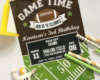 Game Time Football Invitation- Printed & Shipped