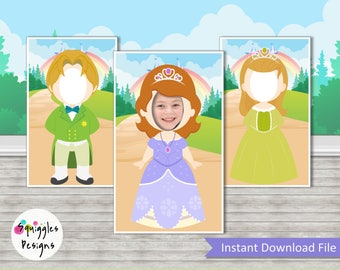 Sofia The First Photo Booth Props (includes Sofia, Amber & James) -Digital Files