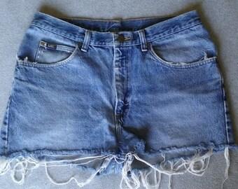 Vintage Lee Destroyed Denim Shorts - 80's / 90's