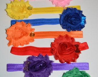 Set Of Elastic Infant Headbands