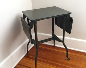 Industrial Metal Cart, Side Table, Rolling Cart, Typing Table