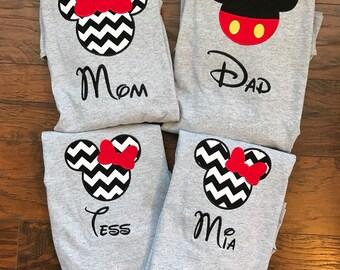 Family Disney Shirts - Personalized Disney Shirts for Family Shirts Matching Disney Shirts Disney Family Vacation T-shirts