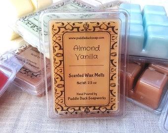 Almond Vanilla Wax Melts - Creamy Vanilla and Amaretto Home Fragrance