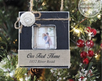 Our First Home Personalized Christmas Ornament GIFT Housewarming Newlyweds First Christmas GIFT