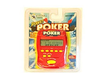 New Poker Draw & Deuces Pocket Poker Electronic Handheld Travel Game by Radica - Collectible Model #9806