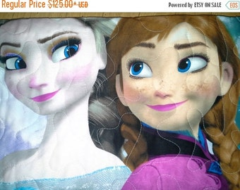 SALE Frozen Elsa Anna Kristoff Hans Crib Toddler Birthday Party Theme Disney Frozen Licensed Fabric Olaf Sisters Forever
