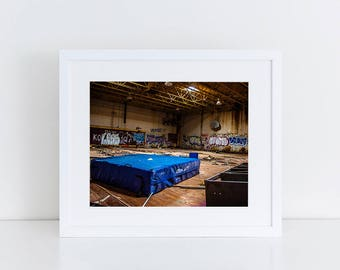 School Gym - Urban Exploration - Fine Art Photography Print
