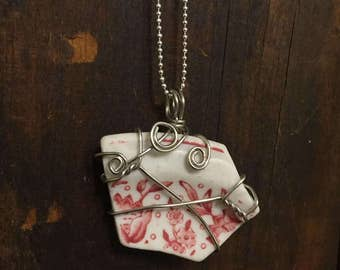 Late for Tea Pottery Shard Necklace - CRF27
