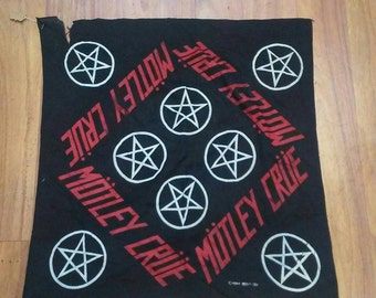Vintage 1984 Motley Crue Rare Bandana Shout at The Devil Tour