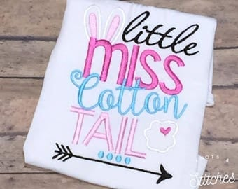 Embroidered Little Miss Cotton Tail bodysuit/ shirt.
