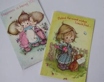 2 Vintage English Cards LTD - Children by Lee - Birthday Greetings
