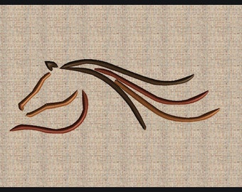 Horse Embroidery Design  Horse Head Embroidery Design Horse Ouline Horse Head Silhouette #3