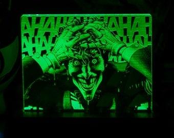 The Batman Killing Joker Acrylic LED light sign, led display sign, led lite sign