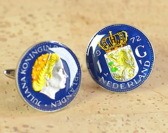 Netherlands Cufflinks Coins Holland