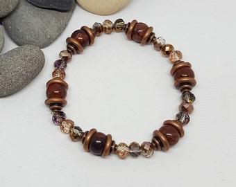 Copper Bohochic Stacking Bracelet - Copper Bracelet - Bohochic Bracelet - Stacking Bracelet