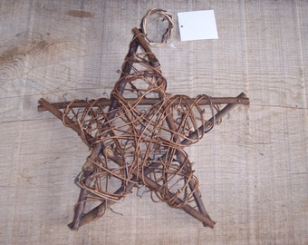 Grapevine stars,5-point,10 inch diameter,natural twig,crafts,florals,ornaments,embellishment