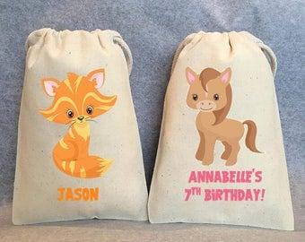 "8- Farm Animal birthday, Farm animal baby shower, farm birthday party, farm animal party supplies, farm party, farm animal party bags, 4""x6"""