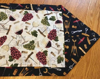 Wine table runner