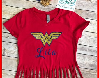 Wonder woman shirt, wonder woman birthday shirt, personalized birthday shirt, wonder woman birthday shirt for girls