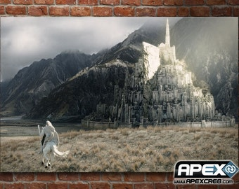 Gandalf the White rides to Minas Tirith - Lord of the Rings Tolkien - Stunning Canvas! - Sizes small to Large