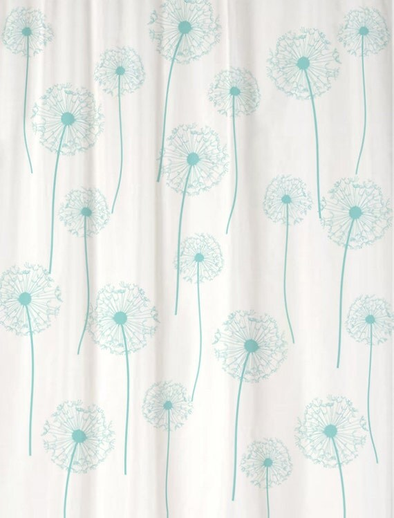 dandelion floral shower curtain you pick colors standard or