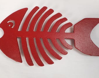 Cast iron fish trivet / beach decor / nautical decor