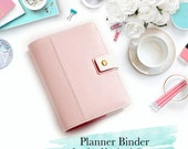 A5 A6 Planner Binder in Pastel 3 colors || Kikki K Filofax Agenda Dokibook Lovedoki || Leather Inner Zipper Pockets