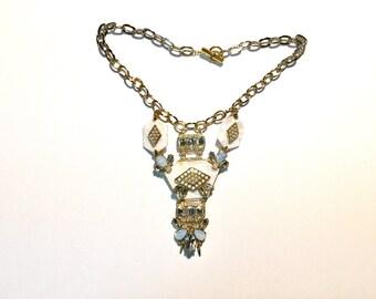 Statement Chain Rhinestone necklace