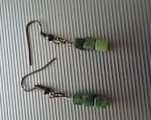 Green Beaded Earrings 74