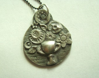 new sterling flower bouquet pendant necklace