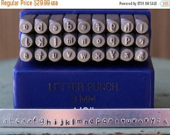 Spring Sale 3mm Free Flowing Typewriter Font Lowercase Letter Stamp Set - Metal Stamp Set - Metal Stamping And Jewelry Design Tools - SG-3L