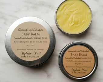 Baby Balm with Calendula- and Chamomile-infused Olive Oil and All-Natural Ingredients