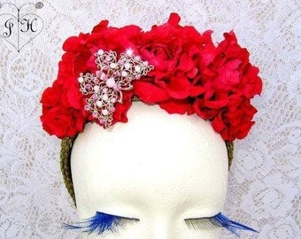 Frida Kahlo, Flower Headband red, Frida Flowers, Spring 2017, Spanish, Mexican,flower crown
